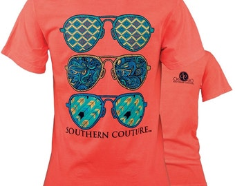 583ff35c8 Comfort Wild Aviators - Neon red Orange.... Sun Glasses - Southern Tees