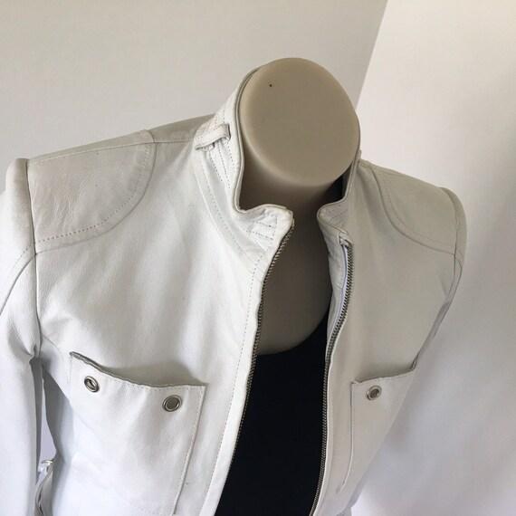 White Bebe leather jacket