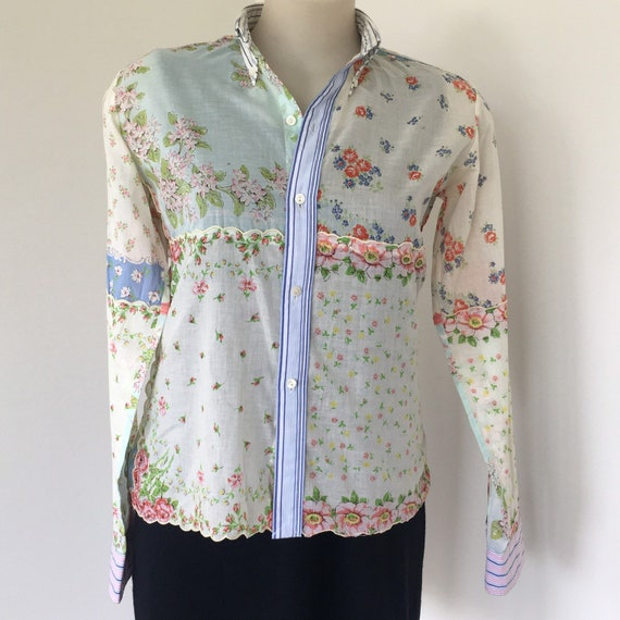 Vintage Ralph Lauren cotton voile blouse