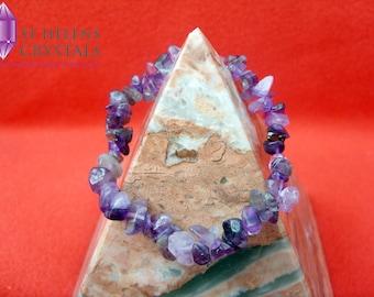Amethyst Gemstone Chip Stretch Bracelets
