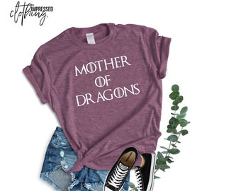 e3fbef82 Mother of dragons t-shirt, Game of thrones shirt, khaleesi shirt, game of  thrones gift, tv show shirt, game of thrones unisex tee, funny mom