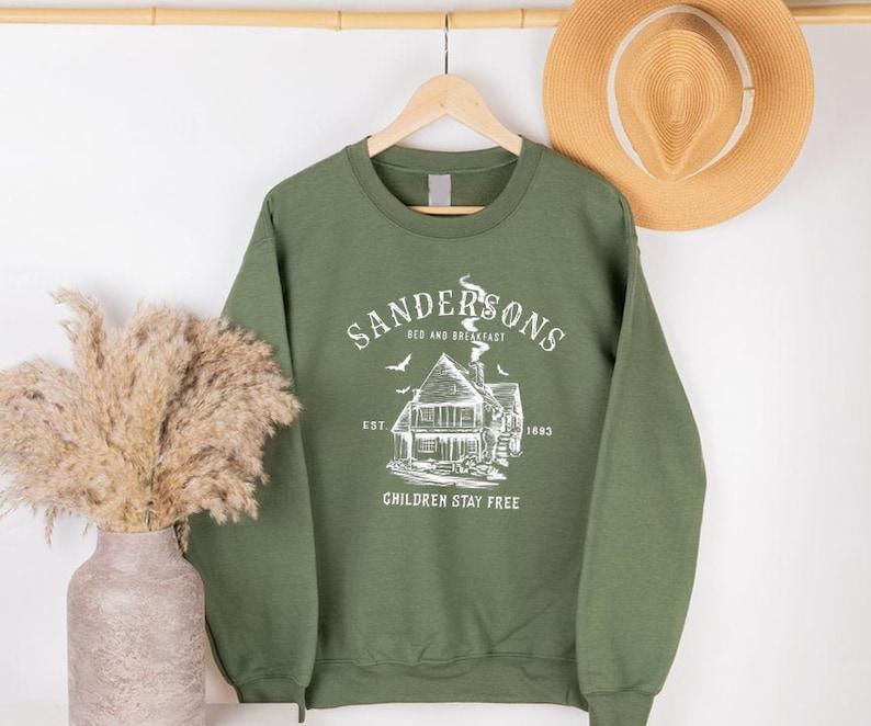 Halloween Sweatshirt Fall Sweatshirt For Women Sanderson image 0