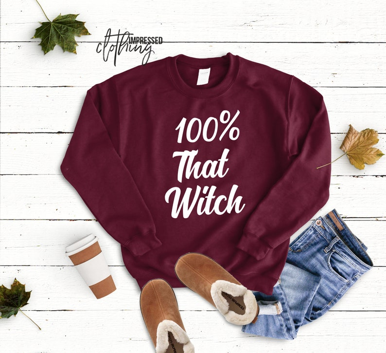 100 percent that witch sweater Halloween Party Sweatshirt image 0