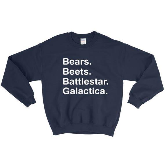 The Office Sweater Bears Beets Battlestar Galactica Sweater Etsy