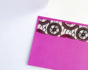 African Print Greeting Card with Envelope // Printed Blank Card // African Print Blank Greeting Card