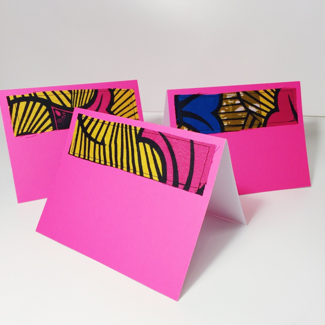 Hibiscus Print Pink Blank Cards With Envelopes Colorful Print