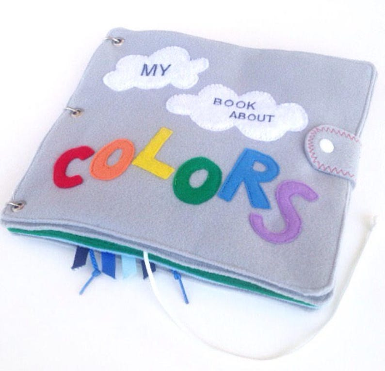 1 Year Old Quiet Book Colors Busy First Birthday Gift