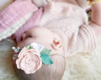 Baby rose Headband , Baby Flower Headband, Baby Hair Accessories, Felt Headband, Rose Headband , Baby shower gift, Felt Flower rose