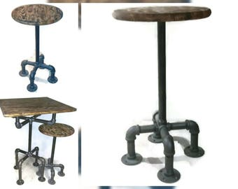 Phenomenal Industrial Style Bar Pub Stool Fixed Position Pipe Chair Creativecarmelina Interior Chair Design Creativecarmelinacom