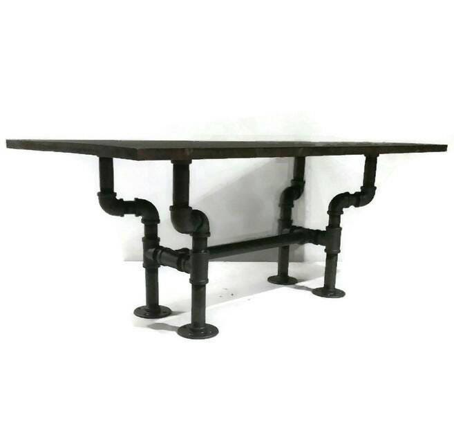 Rustic Industrial Pipe Coffee Table STEAMPUNK Style Furniture