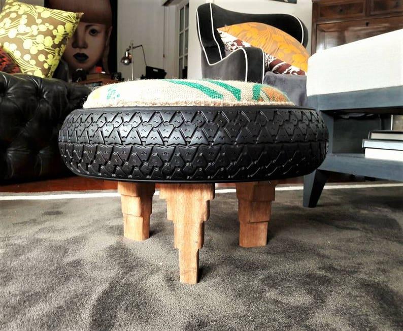 Sgabello pouf h cm design di riciclo gomma originale vespa etsy