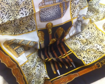 Sale: save 30,-eu!!!Design-scarf, silk, leo-print, bags-print