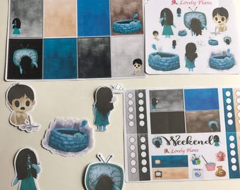 The Ring inspired Planner stickers