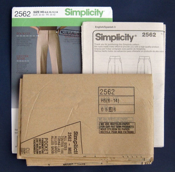 Simplicity Ladies Sewing Pattern 1069 Skirts /& Wide Leg Trousers Simplic...