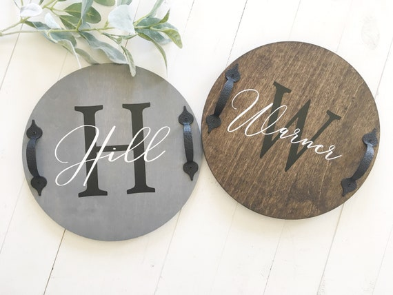 Lazy Susan Turntable Personalized Last Name Wood Kitchen Table Lazy Susan Lazy Susan With Handles Kitchen Table Decor Centerpiece Decor