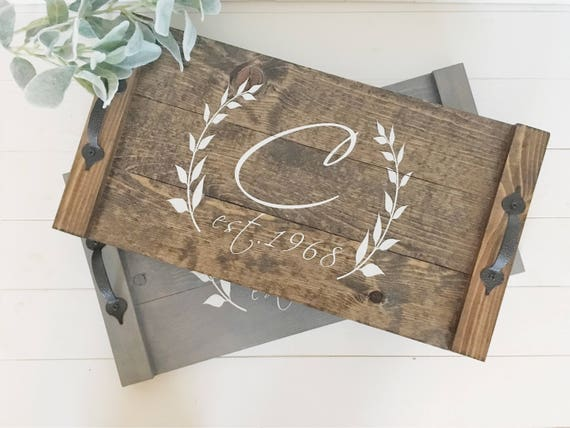 31e43fc540c Personalized Serving Tray Custom Wooden Serving Platter