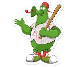 Philadelphia Phillies Phanatic Baseball Mascot Bubble-free sticker