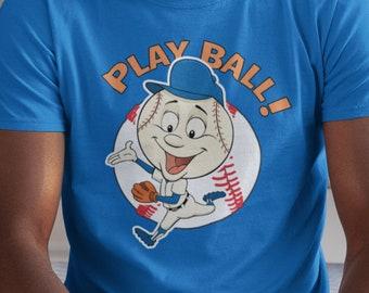 Mets Baseball- Mr Met Play Ball Unisex T Shirt Gift