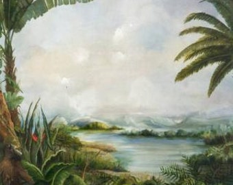 The Jungle.  large panoramic painting