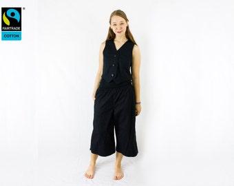 Fairtrade pants adventures, fair vegan organic, cute, rockabilly, gothic lolita, elastic, onezise, women, men, unisex, handmade faircloth