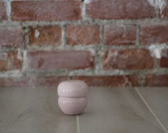 Russel Wright Iroquois Casual Stacking Salt and Pepper Pink Sherbet, Russel Wright, Iroquois Casual, Pink Sherbet, Salt and Pepper, 1950s