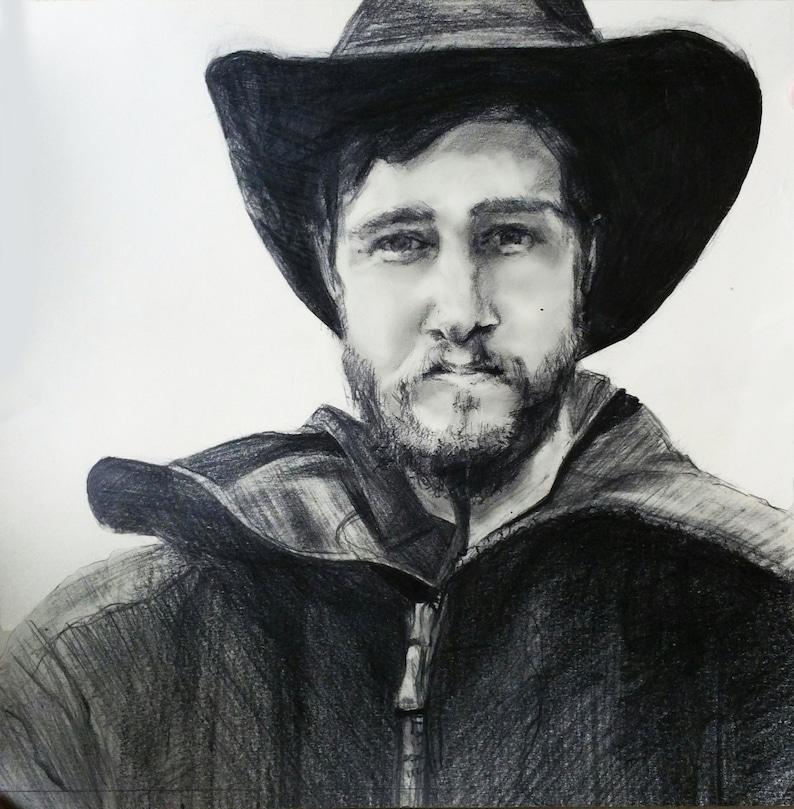 PencilCharcoal Photo to Portrait Custom Hand Drawn Portraits