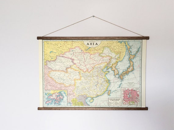 Vintage map of Asia poster print chart on map mirror, map skirt, map accessories, map of downtown denver rtd, map bag, map scrapbook, map chair, map hwy 224 clackamas 32nd, map plastic,