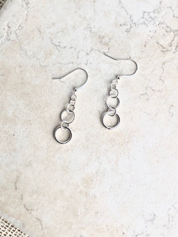 Round Fine Silver Paisley Earrings Paisley Textured Dangle Earrings,gift under100,gift for women,Fine Jewelry,Handmade Original,Christmas