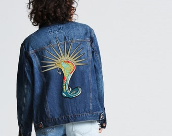 3fd103bb9c3633 Cobra Taylor Swift Reputation IRON ON PATCH Tour Big Reputation Snake  Jacket South Side Patches 1989 Rep 2018