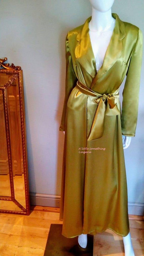 green silk robe long silk dressing gown women's silk dressing gown ladies silk dressing gown dressing gown silk pure silk dressing gown silk