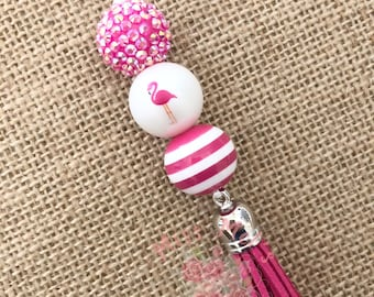 Design 2 Pink Flamingo Ornament Pink Mirror Acrylic Customizable with Name