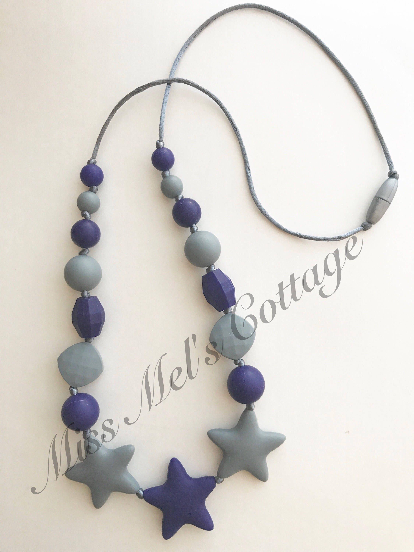 Twinkle Twinkle Little Star Teething Sensory Necklace Baby