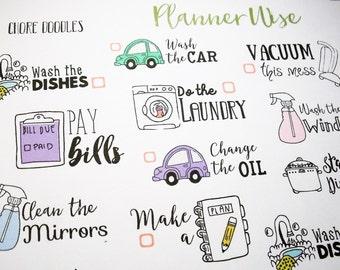 Chore | Tasks | Decorative Set of 28 stickers |