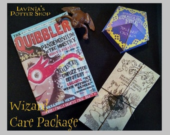 """Miniature Chocolate Frog, Marauders Map and Quibbler sent by Owl Post! Harry Potter gift for 18"""" American Girl Doll"""