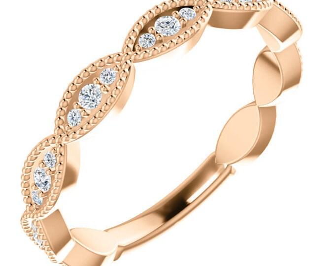 Gorgeous 14 Karat Gold 1/5 Carat Diamond Anniversary Wedding Band