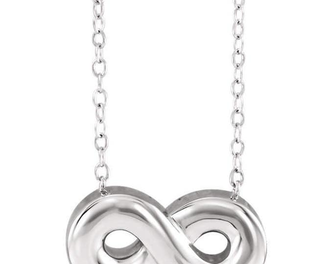 """Gorgeous 925 Sterling Silver Infinity Ash Holder Pendant & 18"""" Necklace"""