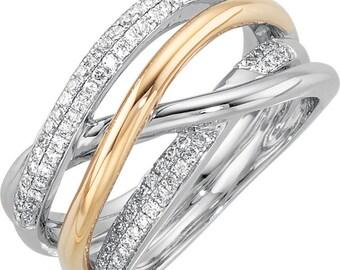Gorgeous 14 Karat White & Yellow 1/3 CTW Diamond Ring