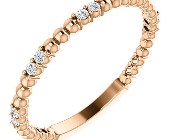 Beautiful 14 Karat Gold 1/6 Carat Diamond Anniversary Wedding Band