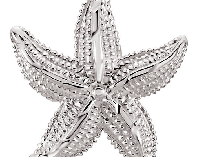 Beautiful Handcrafted 925 Sterling Silver Starfish Pendant