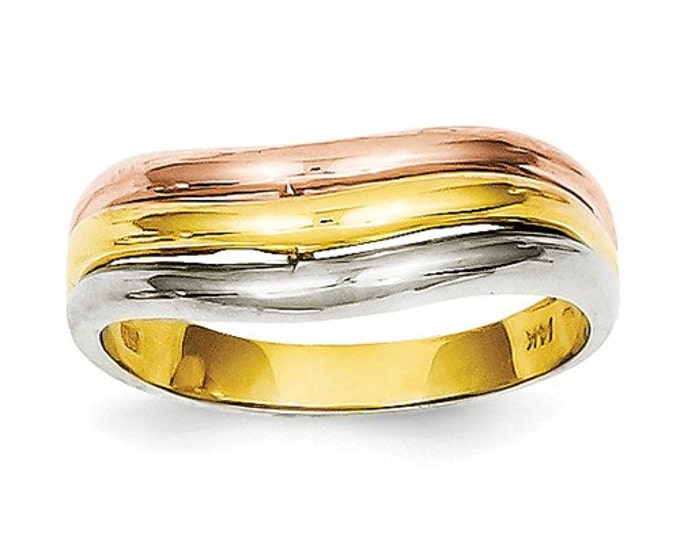 14K Tri-Color Fancy Ring