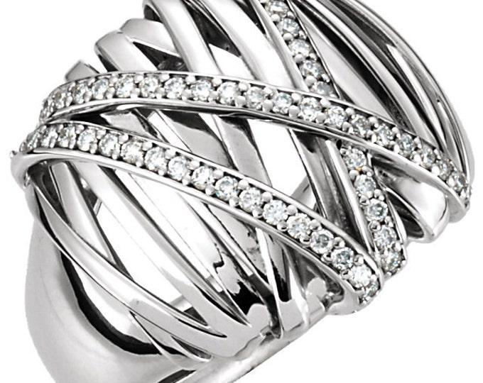 Gorgeous 14 Karat 0.50 Carat Diamond Nest Design Ring.