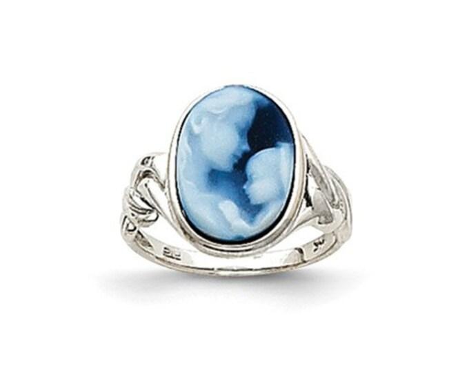 14 Karat Gold Heavens Gift Agate Cameo Ring