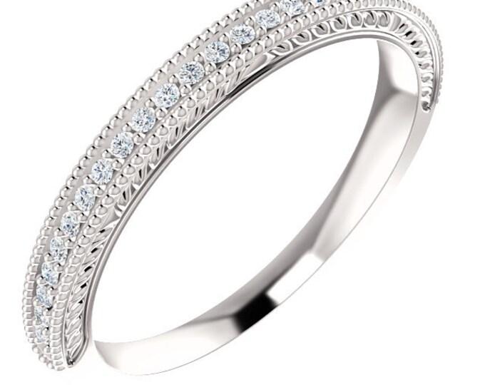 Stunning 14 Karat Gold 1/8 Carat Diamond Anniversary Wedding Band