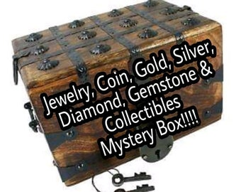 Mystery Box, Jewelry, Coins, Gold, Silver, Diamonds, Gemstones & Collectibles.