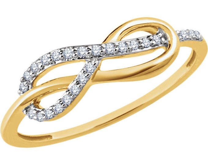 Beautiful Custom 1/10 CTW Diamond Infinity Knot Ring
