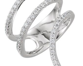 Gorgeous 14 Karat Rose 0.50 Carat Diamond Ring.