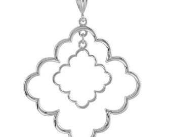 Gorgeous Handcrafted 925 Sterling Silver Drop Dangle Pendant