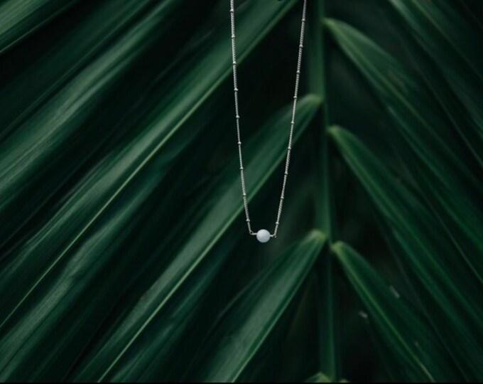 "Peaceful On Purpose, Stunning Handcrafted Adjustable 15""-17.5"" Aquamarine Necklace."