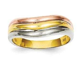 14K Tri-Color Fancy Ring