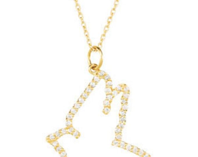 """Gorgeous 14 Karat Yellow Or White Gold Diamond Flying Dove 16"""" Necklace"""